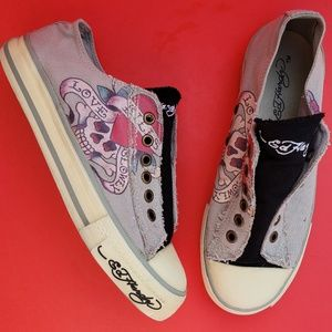 Ed Hardy | Canvas Slip On Sneakers 6